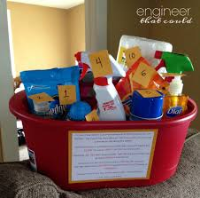 engagement gift baskets cleaning supplies shower gift engineer that could balance i