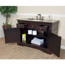 bellaterra home 50 inch single bathroom vanity baltic brown