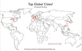 world cities on map mapping global cities geocurrents