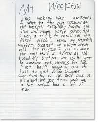 second grade writing sample 5 reading rockets