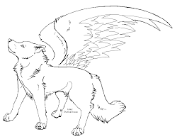 baby wolf wings coloring pages coloring pages ages