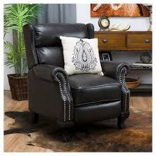 Black Leather Recliner Tauris Pu Leather Recliner Club Chair Black Christopher