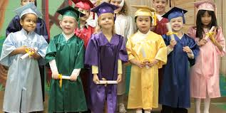 high school cap and gown rental kindergrad caps gowns by oak cap gown
