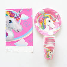 unicorn party supplies 21pcs lot unicorn party paper plate cup tablecloth birthday party
