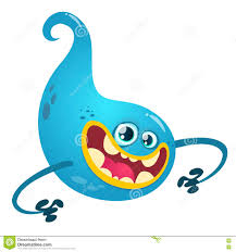 cartoon blue ghost halloween vector blue ghost stock vector