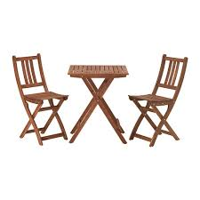 Hadley Bistro Chair Folding Acacia Wood Ikea Bollo Dining Bistro Table Chair Set