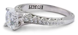 filigree engagement ring tacori filigree engagement ring with diamond accents 2616rd65