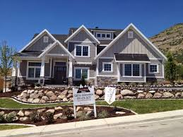 ideas utah craftsman style homes design with green grass plus