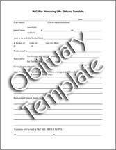 obituaries template bio letter sample