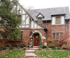 this tudor style color of exterior paint is most similar to my new