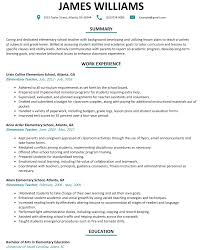 Resume Samples Of Teachers by Elementary Teacher Resume Sample Resumelift Com