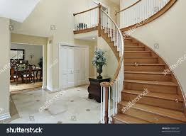 foyer curved staircase stock photo 43891291 shutterstock