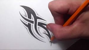 drawing a simple spiky tribal tattoo design with some shading