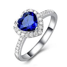 blue fashion rings images Online cheap full diamond fashion blue stone 925 silver ring brand jpg