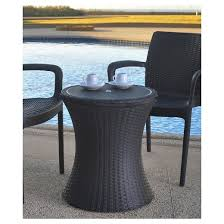 pacific cool bar rattan style patio beverage cooler bar table