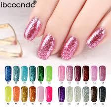 aliexpress com buy ibcccndc 24 colors uv shining glitter gel