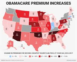 Gas Prices By State Map by Here U0027s How Much Hhs Says Obamacare Premiums Will Rise In Every