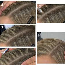 highlights to hide white hair sunny simple life how to cover your grey roots between colorings