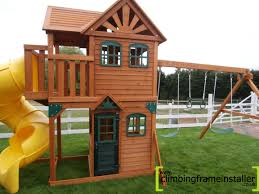 Wood House Design by Outdoor U0026 Garden Design Awesome Cedar Summit Playset For Kids