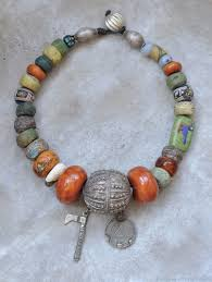 large beads necklace images Ethnic necklace large beads shop online on livemaster with jpg