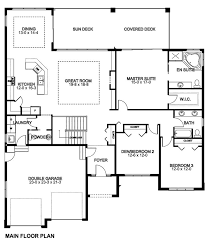 one open floor house plans cozy design one level house plans with no basement best 25 open