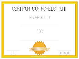 certificate of achievement template certificate templates