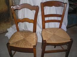 assise de chaise en paille echange 2 chaises en bois assises paille mobilier et decoration