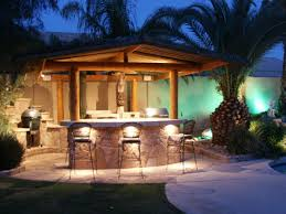 mesmerizing red bricks outdoor kitchen island features grey color