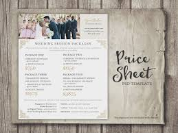 wedding photographers prices wedding photography price sheet price list template wedding