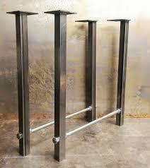pieds bureau pieds de table en métal tige filetée