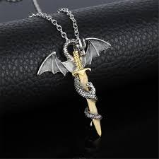 skyrim dragon pendant necklace images Dragon sword glow in the dark necklace mystikz gaming jpg