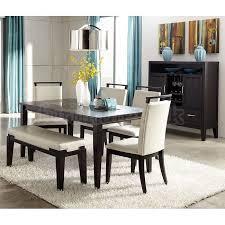 Modern Dining Room Table Set Extraordinary Modern Dining Room Table With Bench 49 On Dining