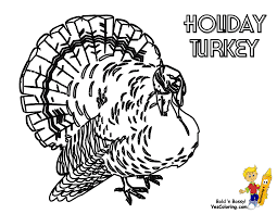 coloring page turkey trendy for elementary students printable day