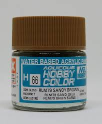aqueous hobby color sandy brown rlm79 h66 aqueous paints gunze
