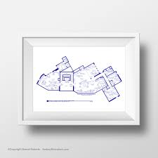 the big bang theory art print tv show apartment floor plan