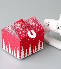 christmas and new year tree house mini candy box birthday party
