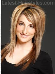 latest layered shaggy hair pictures long shag hairstyle with side bangs and texture hair colors