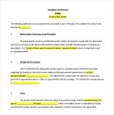 vendor agreement template u2013 12 free word pdf documents download