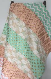 chevron girls bedding baby quilt blanket brambleberry glitz modern chevron