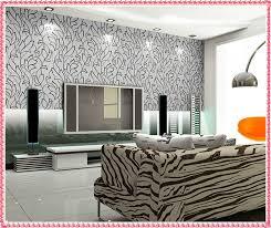 Winsome Design Wallpaper Designs For Living Room Wall India On - Living room wallpaper design
