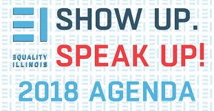 Agenda Meme - participate in the show up speak up agenda 皓 equality illinois
