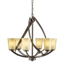 Kichler Lighting Chandelier Shop Kichler Layla 24 21 In 6 Light Olde Bronze Rustic Tinted