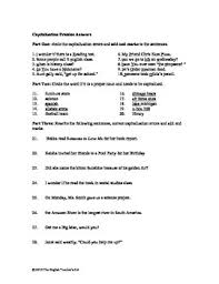 and punctuation practice worksheet and answer key