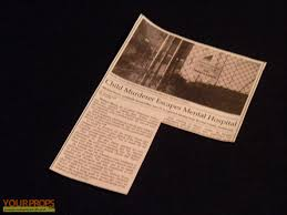 halloween hospital props halloween h20 20 years later newspaper clip child murderer