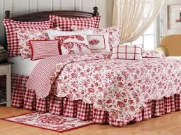 chic toile bedding in bedroom traditional with french country