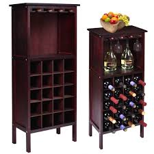 Kitchen Wine Cabinet Amazon Com Gracelov New Wood Wine Cabinet Bottle Holder Storage