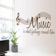music wall decor music wall sticker 2015 new character music sayings wallpaper note