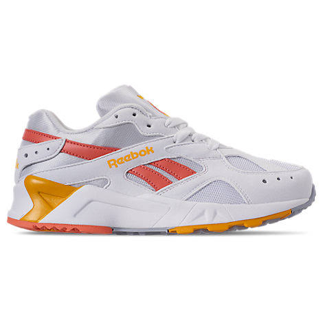 Reebok Aztrek White/Pink Gold/Grey Fashion Sneaker