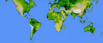 Large World Map World Mercator Projection Large
