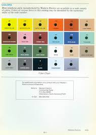western electric products telephones color charts chart 2